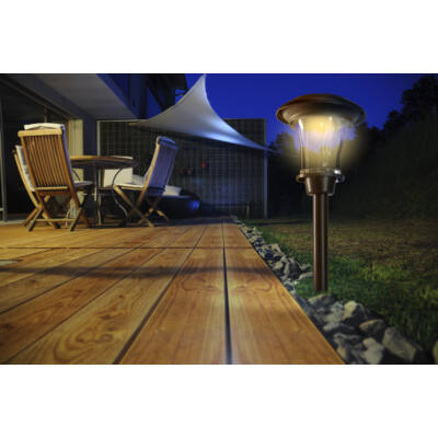 Nortene Esis napelemes leszúrható lámpa 15x38cm ledes 600mAh