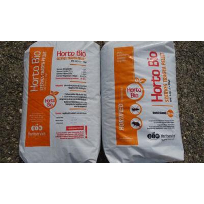 Horto Bio szerves talajjavító, vakond és kártevőűző szervestrágya pellet 25Kg