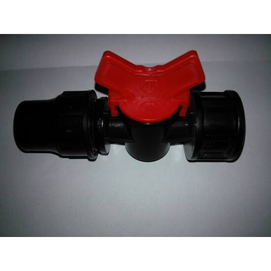 Csap műanyag 16 gyorskötő x 3/4BM piros, 4bar
