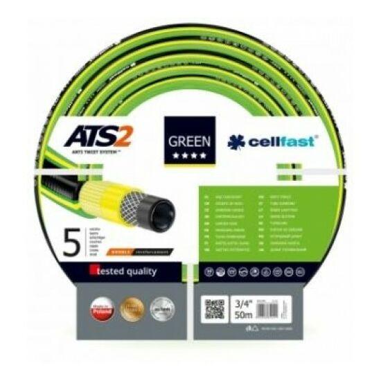 """Cellfast ATS2 Green Profi 5 rétegű csavarodásmentes locsolótömlő 3/4"""" 25m"""