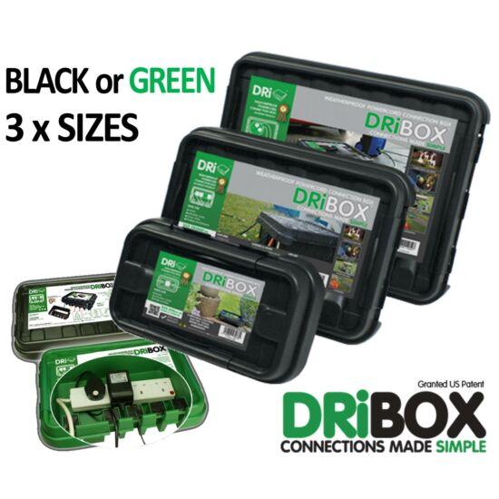 Dribox vízmentes csatlakozó doboz 200mm fekete
