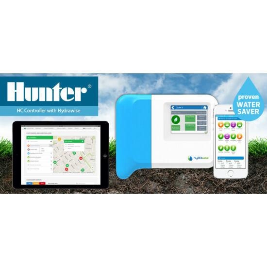 Hunter Hydrawise 12 zónás beltéri wi-fi képes okos öntözés vezérlő HC-120i-E
