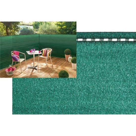 Supertex árnyékoló háló 1,5x5m zöld 100% belátáskorlátozás  UV stabil