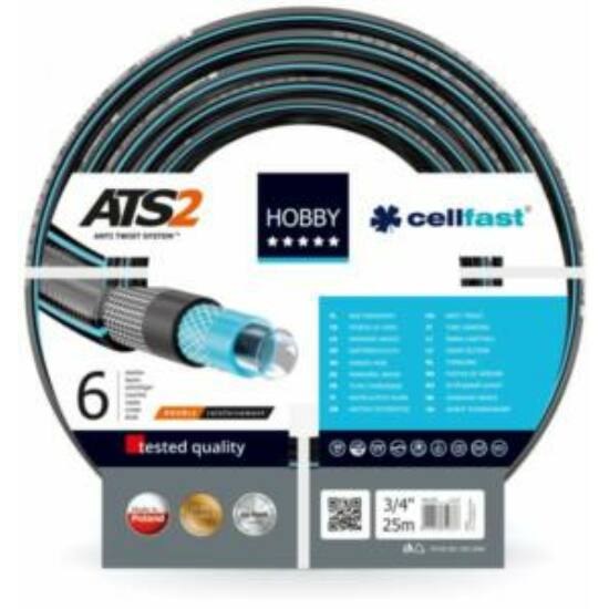 """Cellfast ATS2 Extra 6 rétegű csavarodásmentes locsolótömlő 3/4"""" 50m"""