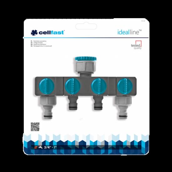 """Cellfast négy utas elosztó csappal, 3/4""""-1"""" BM Ideal Line Prémium"""
