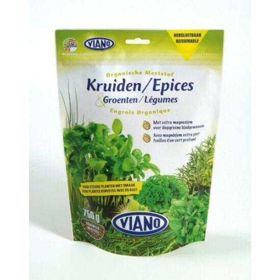 Viano szerves kertészeti táp fűszernövényeknek, Bio minősítéssel! 0,75Kg