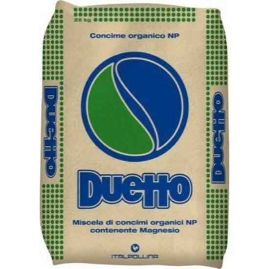DUETTO (5N – 5P2O5 – 8K2O) szervestrágya pellet 25Kg