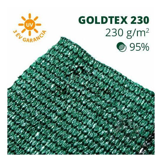 Goldtex230 árnyékoló háló 1x50m zöld 95% belátáskorlátozás 230gr/m2 UV stabil