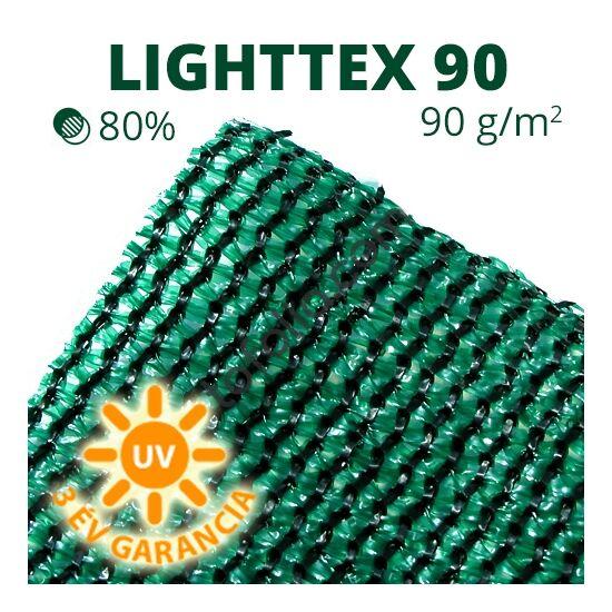 Lighttex90 árnyékoló háló 2x50m zöld 80% belátáskorlátozás 90gr/m2 UV stabil
