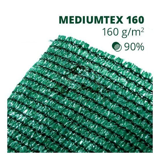 Mediumtex160 árnyékoló háló1,5x10m zöld 90% belátáskorlátozás 160gr/m2 UV stabil 3 év garancia