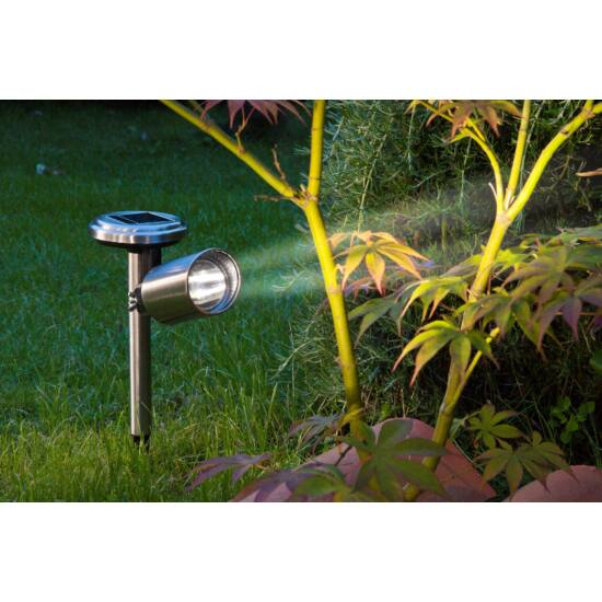 Nortene Scoop rozsdamentes acél napelemes spot lámpa