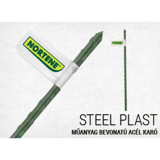 Acélkaró műanyag bevonatos zöld 1,6x210cm