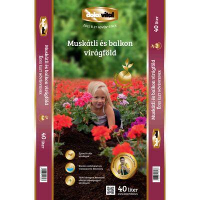 Dolce Vital top prémiummuskátli és balkonnövény virágföld tápanyagokkal 40l