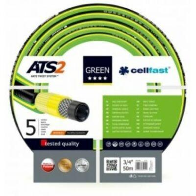 """Cellfast ATS2 Green Profi 5 rétegű csavarodásmentes locsolótömlő 3/4"""" 50m"""