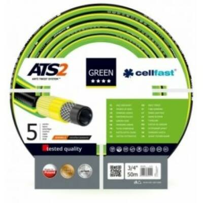 """Cellfast ATS2 Green Profi 5 rétegű csavarodásmentes locsolótömlő 1/2"""" 50m"""