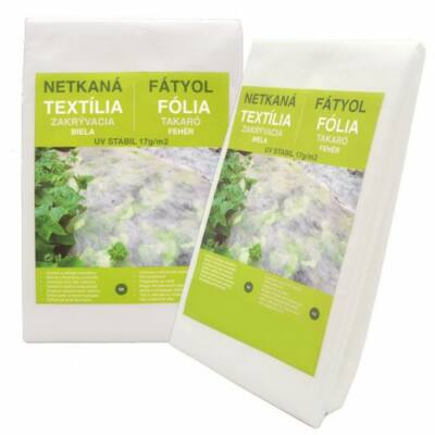 Fátyolfólia, növénytakaró fólia fehér 17g/m2 UV stabil 4,2m x 10m hajtogatva
