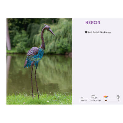 Nortene Heron Kócsag kerti dekorációs figura