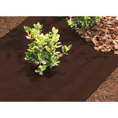 Geotextília, gyomfólia, talajtakaró 80g/m2, 1,6m x10m (16m2) tekercsben, Prémium minőség, UV stabil, barna színben