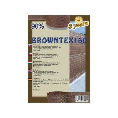 Browntex 160 Árnyékoló Háló 2X50M Barna90% Belátáskorlátozásra 160GR/M2 UV Stabil