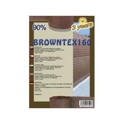 Browntex 160 Árnyékoló Háló 2X10M Barna90% Belátáskorlátozásra 160GR/M2 UV Stabil