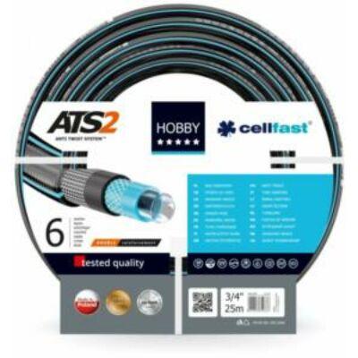 """Cellfast ATS2 Extra 6 rétegű csavarodásmentes locsolótömlő 1/2"""" 25m"""