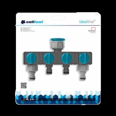 """Cellfast Ideal Line Prémium négy utas elosztó csappal, 3/4""""-1"""" BM"""