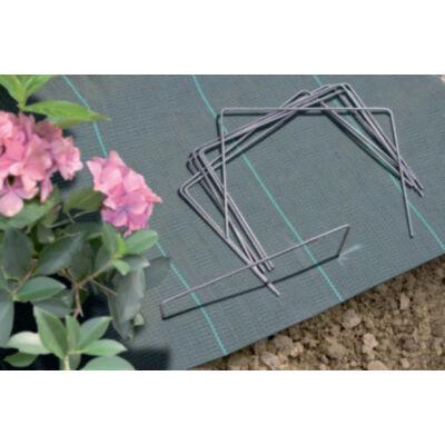 Fixsol rögzítő galvanizált fém, vakondhálóhoz, geotextilhez, agroszövethez, fányolfóliához 20x25