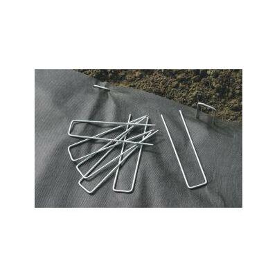 Fixsol rögzítő galvanizált fém, vakondhálóhoz, geotextilhez, agroszövethez, fányolfóliához 17x3,5cm