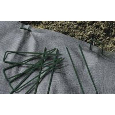 Fixsol rögzítő leszúró zöld fém műfű vakondháló geotextil rögzítésére 17x3,5cm