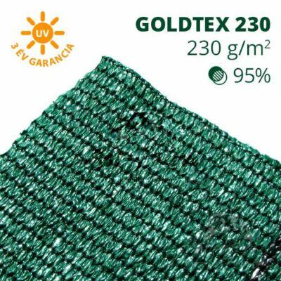 Goldtex230 árnyékoló háló 1,5x50m zöld 95% belátáskorlátozás 230gr/m2 UV stabil