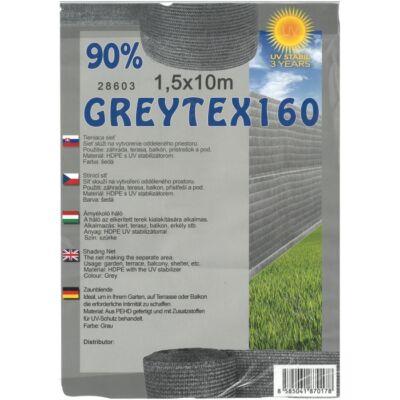 Greytex160 árnyékoló háló antracit/szürke 1,5x10m 90% belátáskorlátozás 160g/m2 UV stabil