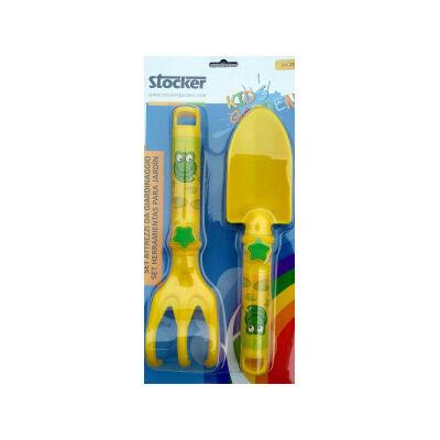 Stocker gyerek 2db -os kerti szerszám műanyag sárga