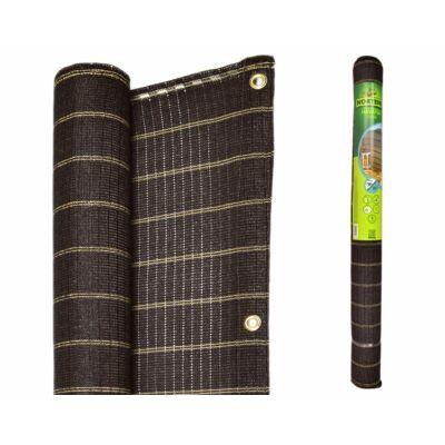 Havana modern árnyékoló, belátásgátló 1,5x5m 185gr/m2 UV stabilizált 85% takarást biztosít barna színben
