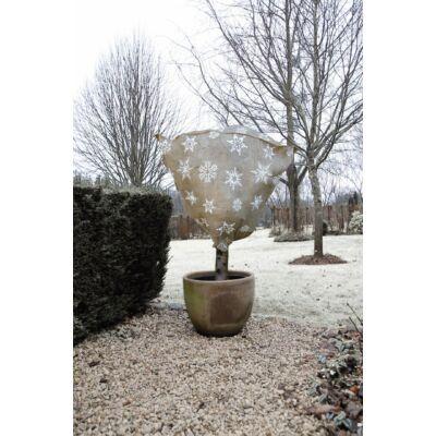 Juta növénytakaró zsák téli mintával natural