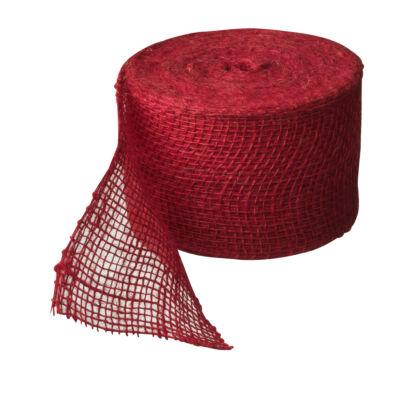 Juta szalag fatörzs védelemre piros 10cmx5m