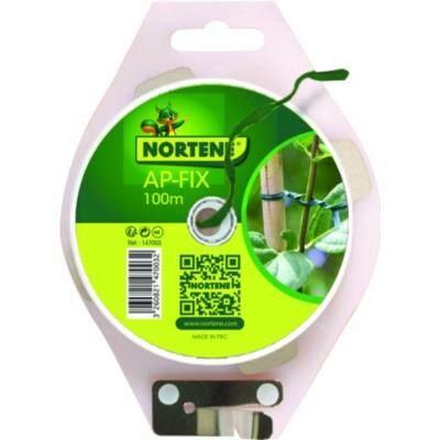 Nortene AP-FIX 100m Erősitett Műanyag kötözö zöld