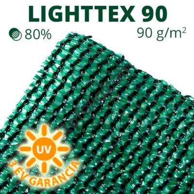 Lighttex90 árnyékoló háló1,5x10m zöld 80% belátáskorlátozás 90gr/m2 UV stabil