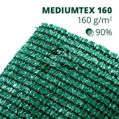 Mediumtex160 árnyékoló háló1,2x10m zöld 90% belátáskorlátozás 160gr/m2 UV stabil 3 év garancia
