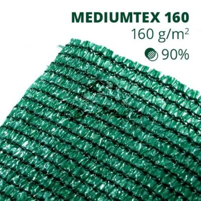 Mediumtex160 árnyékoló háló1,8x10m zöld 90% belátáskorlátozás 160gr/m2 UV stabil 3 év garancia