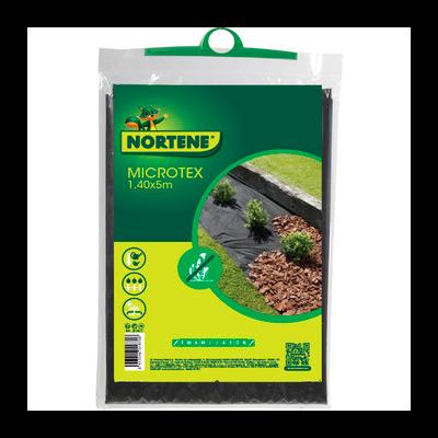 Microtex Nortene talajtakaró textil fekete 1,4m x 5m (7m2)