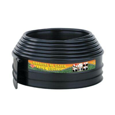 Műanyag gyepszegély, ágyásszegély B4000 fekete 6,1m hosszú