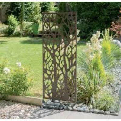 Nortene Dekorációs fém panel, leszúrható vagy falra szerelhető  fa mintás (150x60 cm)