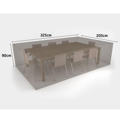 Nortene Covertop vízálló bútortakaró szövet asztal+6/8 szék