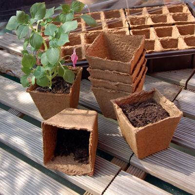 Growing pots  tőzegcserép 8x8cm 14db/csomag