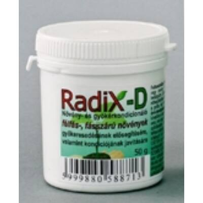 Radix-D Gyökeresztető Félfás és fásszárú növényeknek 50g
