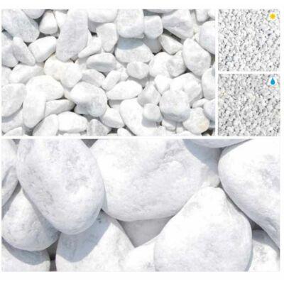 Márvány díszkavics Carrarai fehér 25-40 25kg