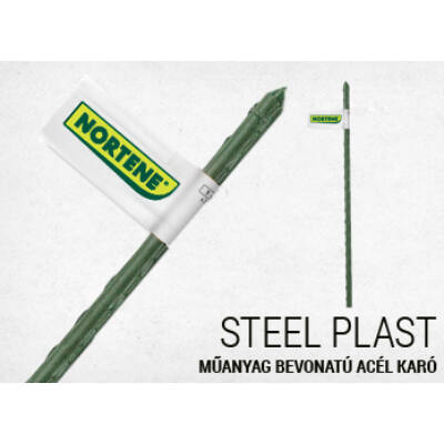Acélkaró műanyag bevonatos zöld 0,8x60