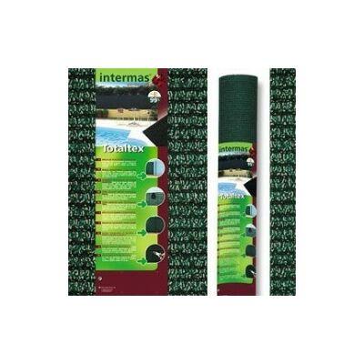Totaltex árnyékoló háló, erősített 1,5x10m zöld 95% belátáskorlátozás  UV stabil