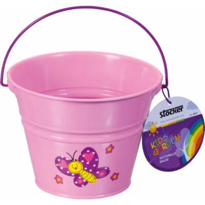 Stocker gyerek vödör fém rózsaszín